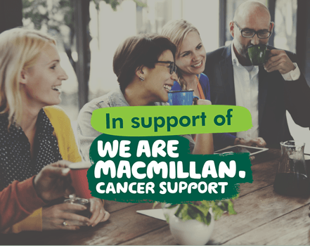 In support of We are Macmillan Cancer Support